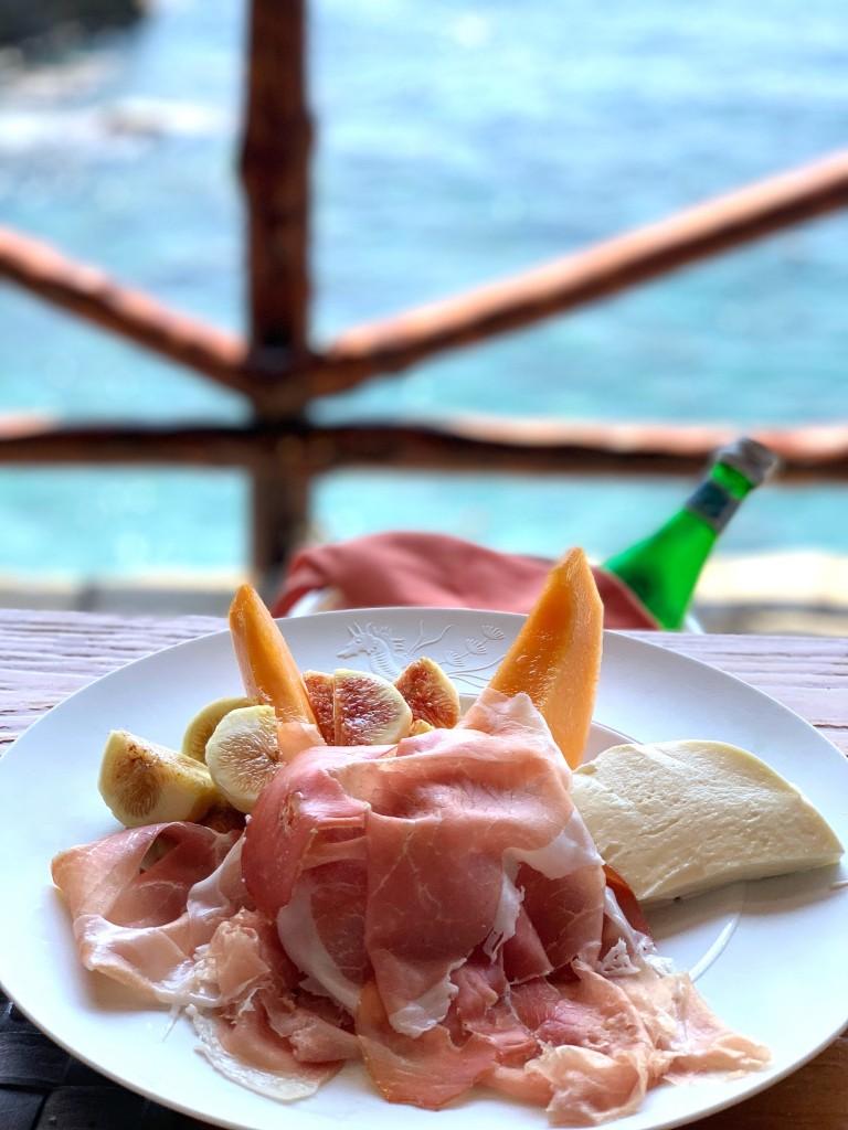 Prosciutto with Melon & Figs at Carlino (Il San Pietro Hotel)