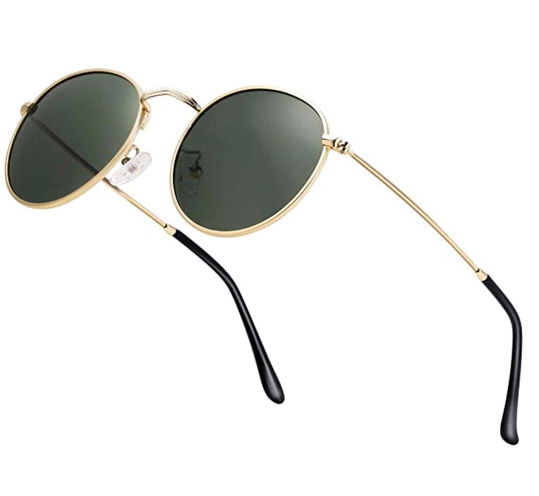 Round Retro Gold Frame Sunglasses Ray-Ban Inspired
