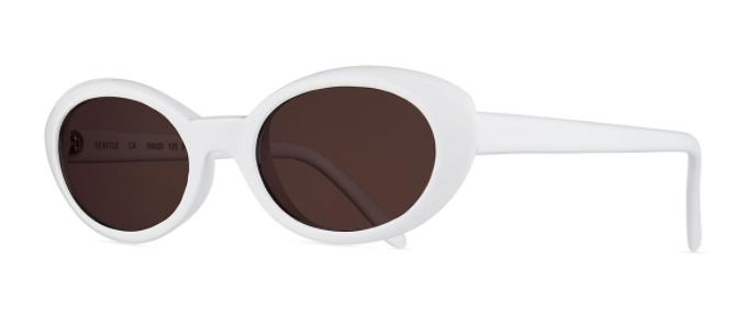 Illesteva White Oval Retro Sunglasses