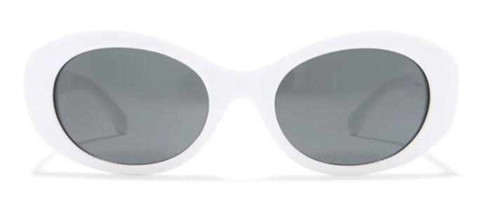 White Oval Vintage Sunglasses on a Budget