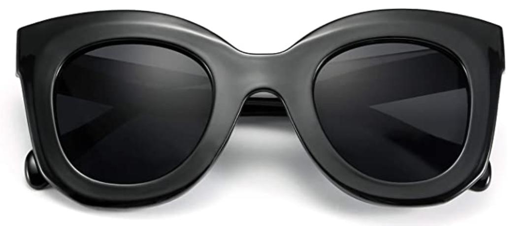 Oversized Retro Black Designer Inspired Sunglasses